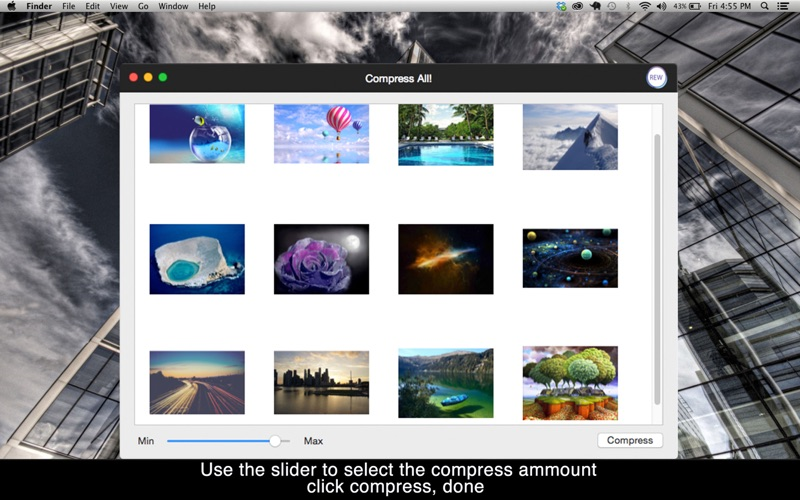 Compress All!: Compress your photos & images in seconds to reduce space