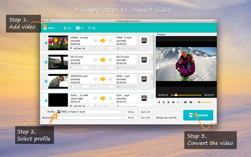 4Video MOV Converter - To MP4