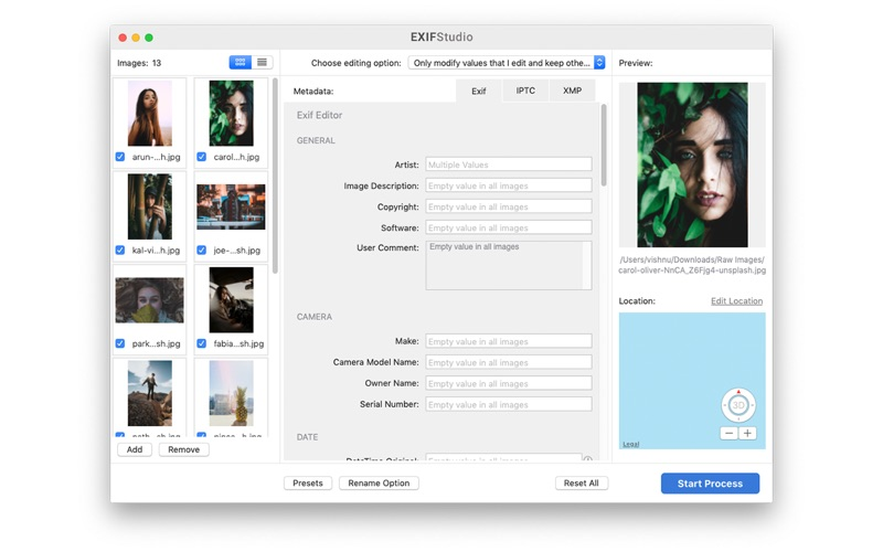 EXIF Studio - Metadata Editor