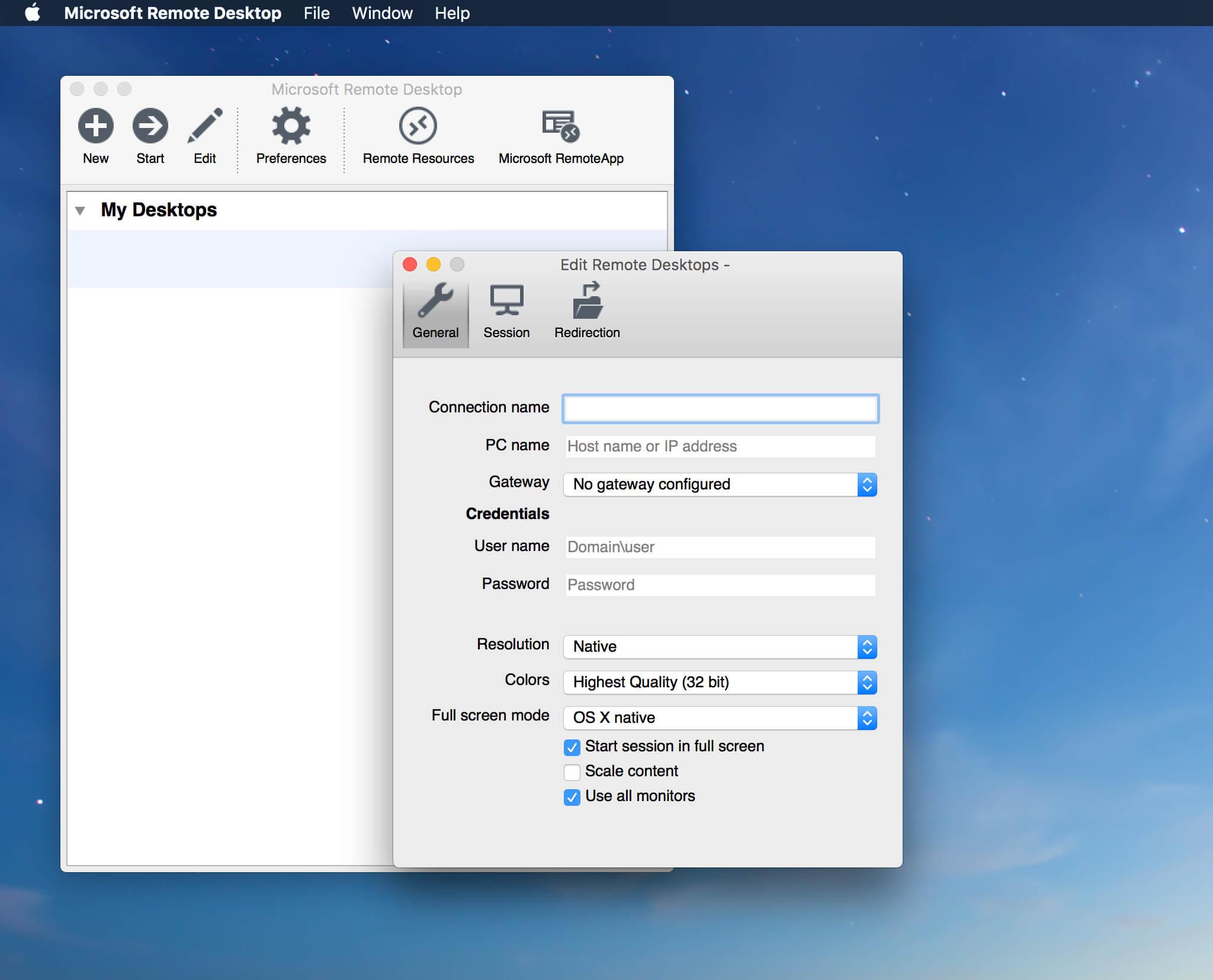 Microsoft Remote Desktop 8.0.7远程桌面控制