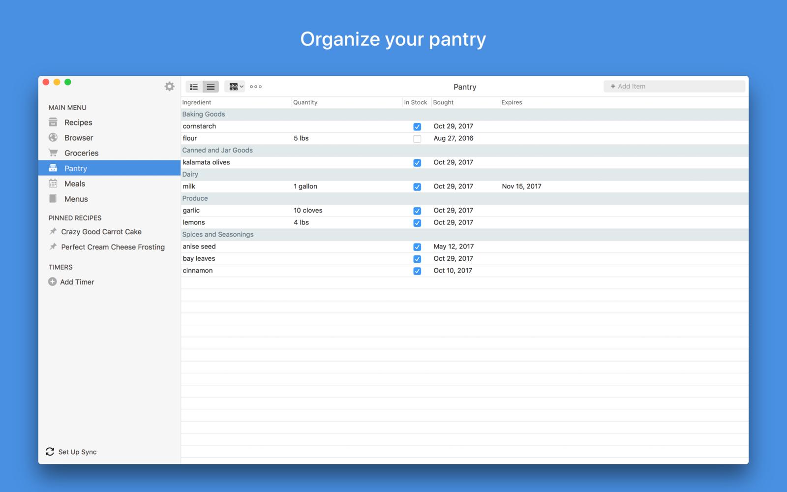 Paprika Recipe Manager 3.2.1用户管理食谱软件