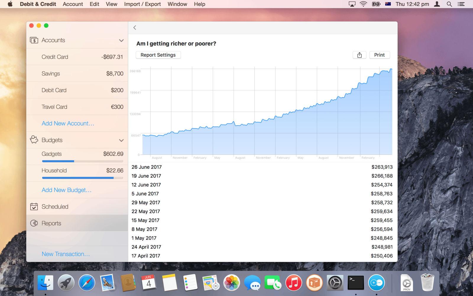 Debit & Credit 2.7.2个人理财应用软件