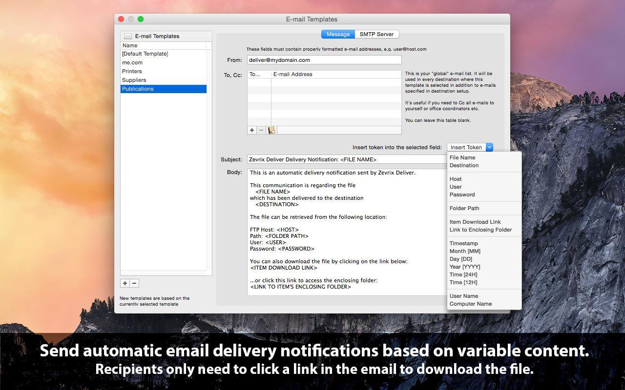 Deliver 2.6.7通过网络共享文件