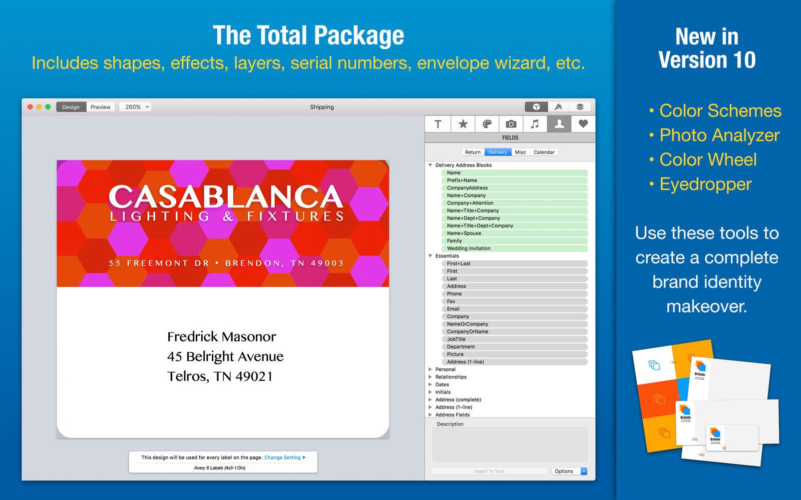 Labelist 10.0.2设计标签、信封、信纸