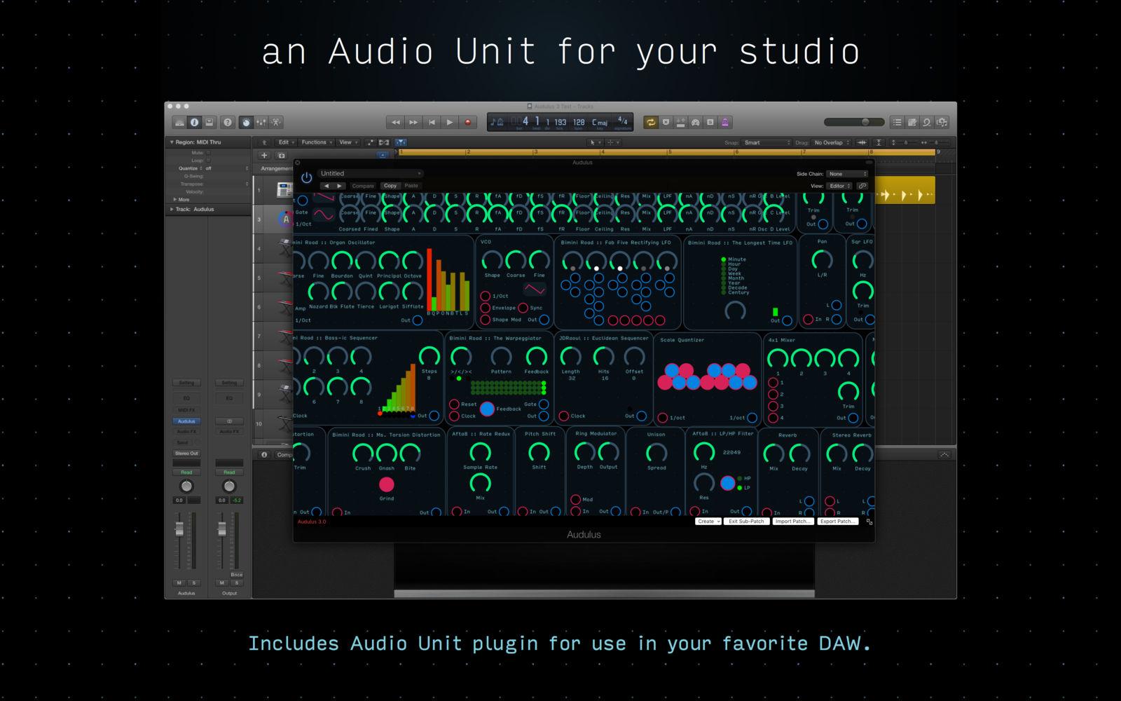 Audulus 3.5.1模块化音频处理软件