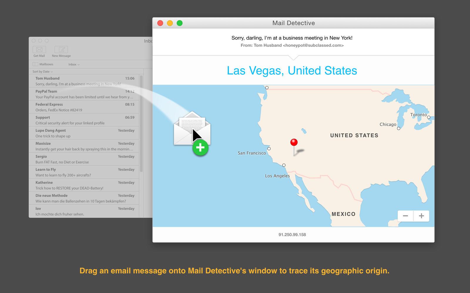Mail Detective 1.3邮件探测发送地的软件