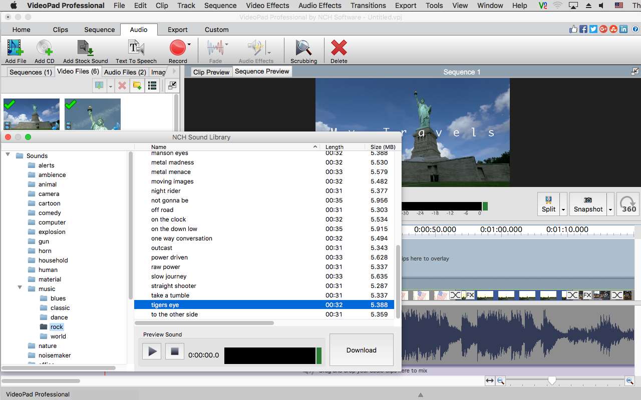 VideoPad Professional 6.03功能齐全的轻量视频编辑应用