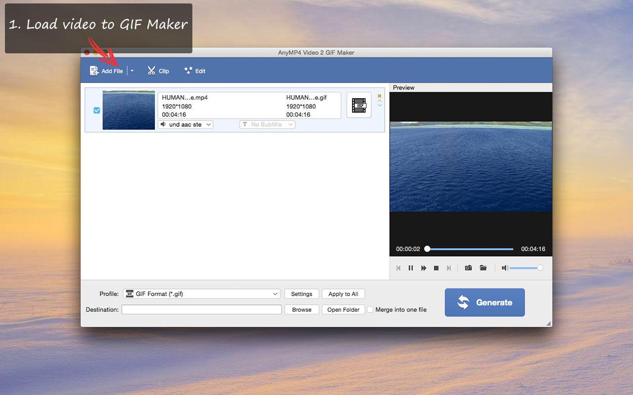 AnyMP4 Video 2 GIF Maker 1.0.17视频转GIF软件