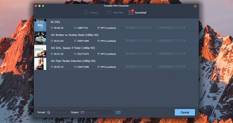 TunesKit M4V Converter 4.2.0.11DRM清除及格式转换工具