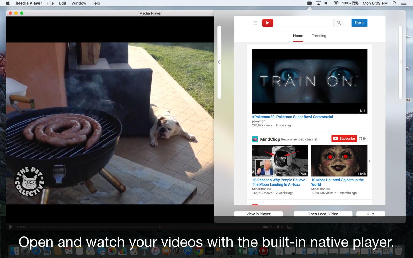 Flix Player for YouTube 2.1.1菜单栏快速访问YouTube工具