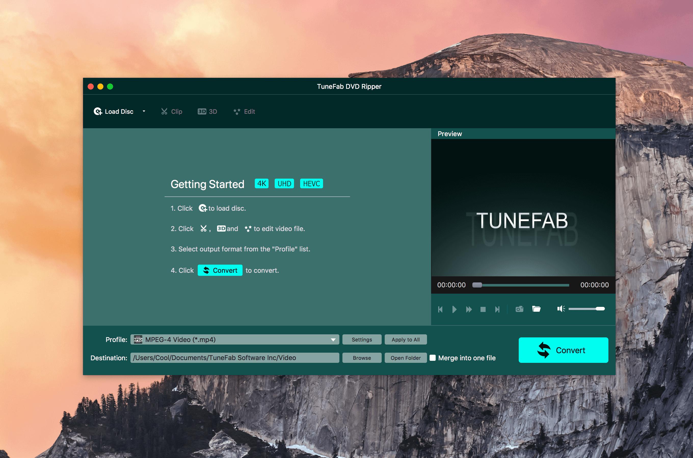 TuneFab DVD Ripper 1.0.6.70321多功能DVD格式转换器