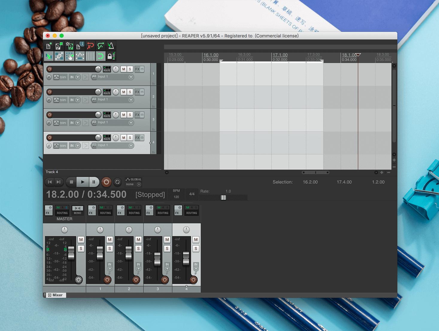 Cockos REAPER 5.91音频录制编辑工具