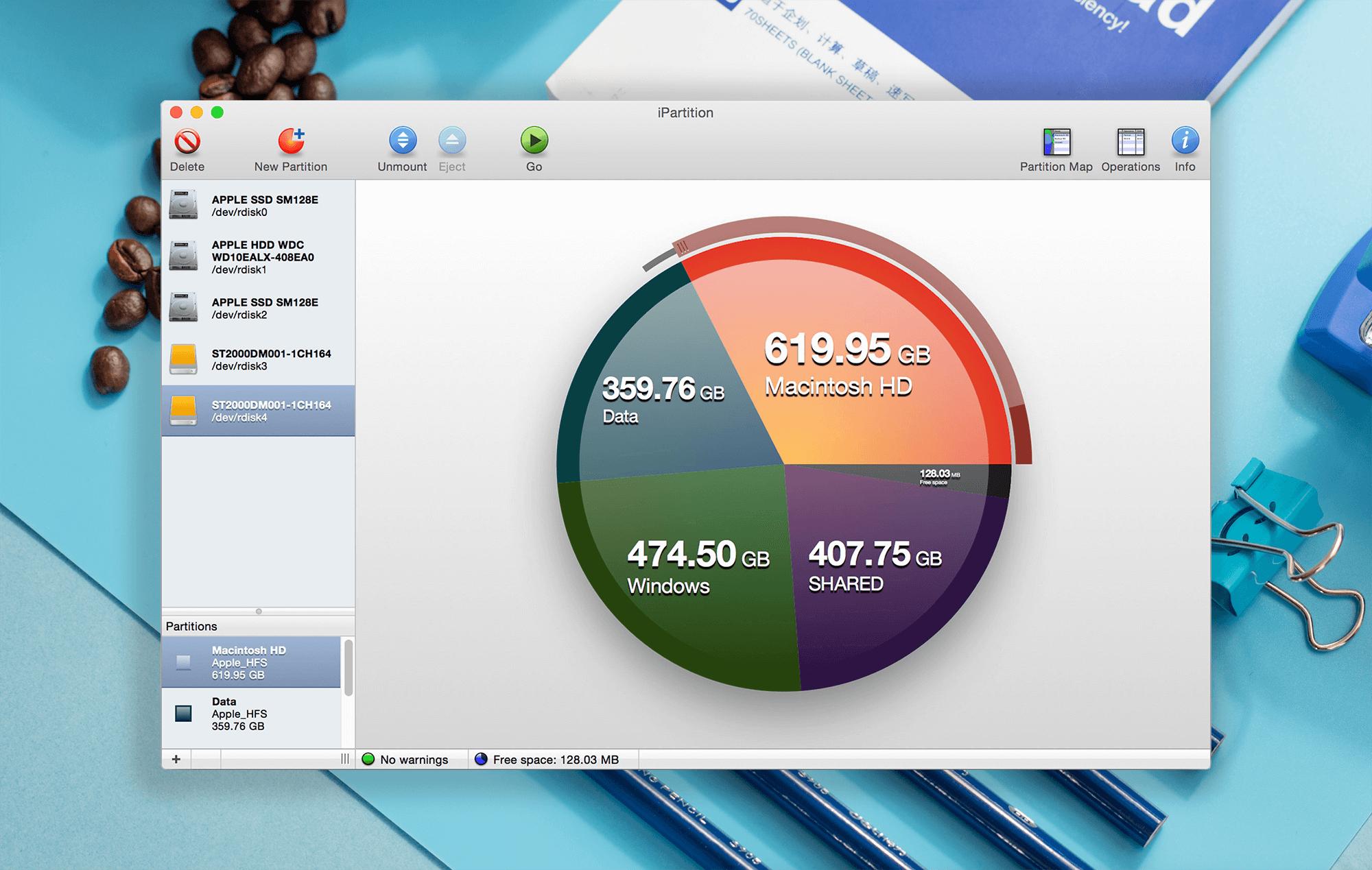 iPartition 3.6.0硬盘无损分区工具