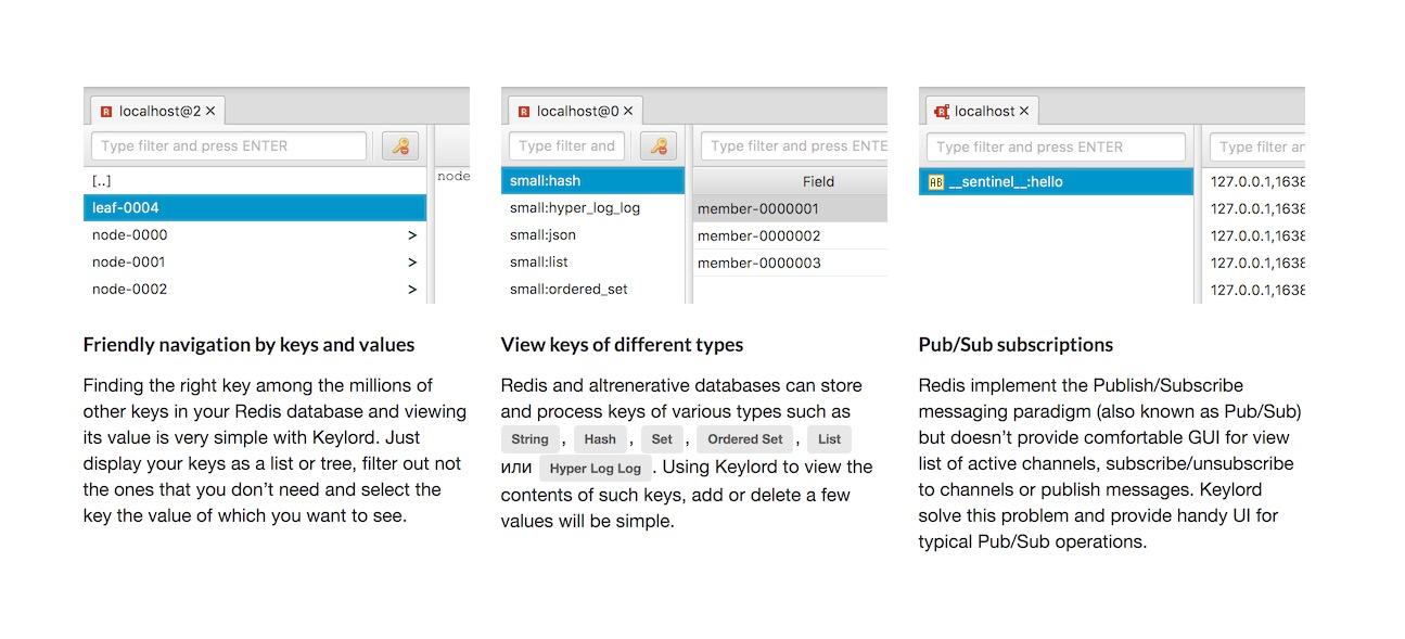 Keylord 5.0.1键值数据库的桌面GUI客户端