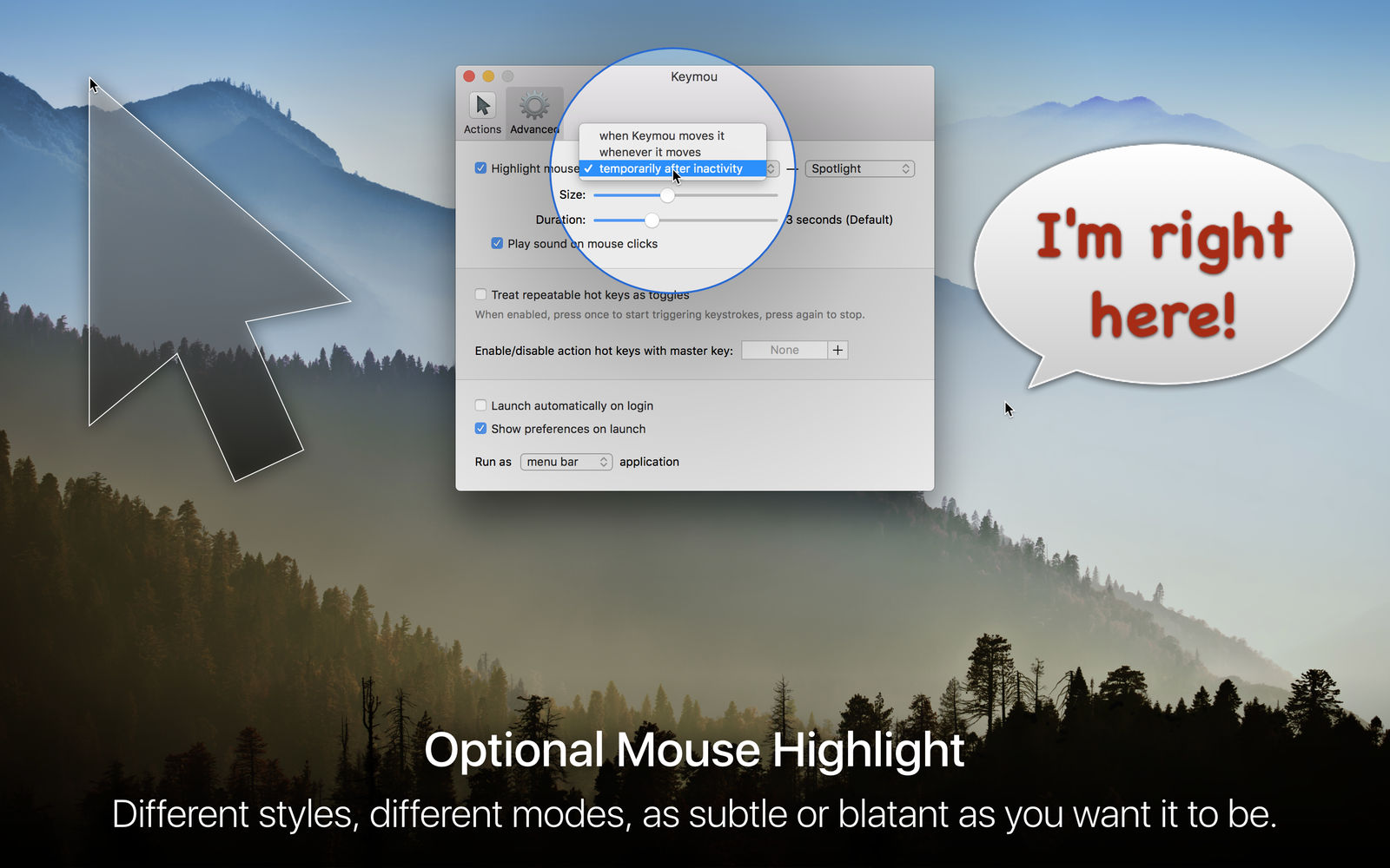 Keymou 1.2.6通过键盘快捷键控制鼠标