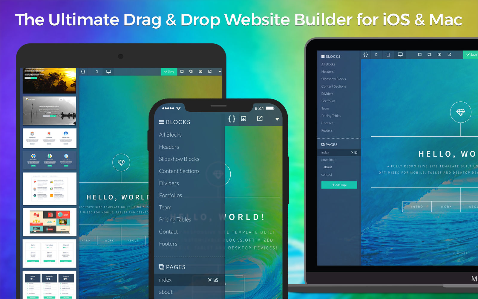 UXWeb 1.3一体化网站构建