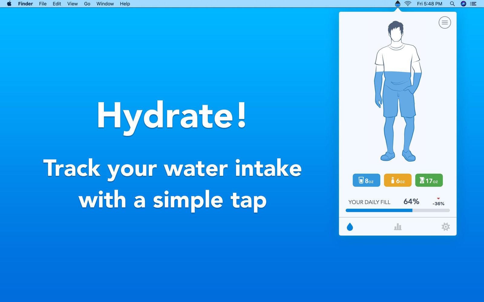 WaterMinder 1.2跟踪您的每日饮水量