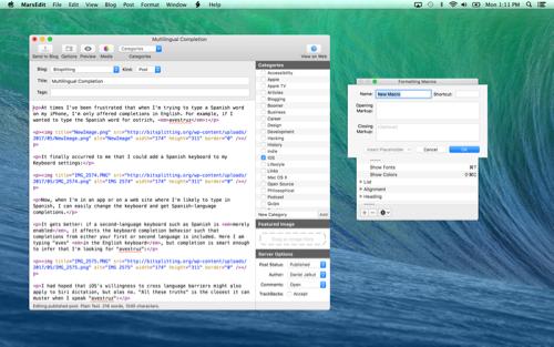 MarsEdit 4 Mac博客编辑器