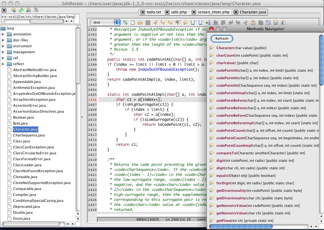 EditRocket - Mac、Windows文本和源代码编辑器