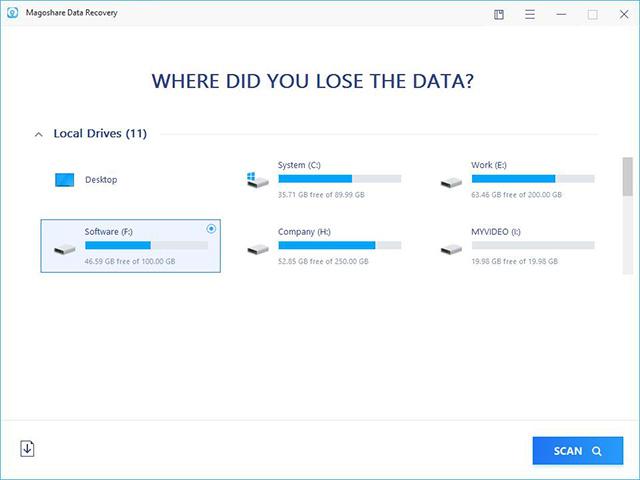 Magoshare Windows、Mac数据恢复软件