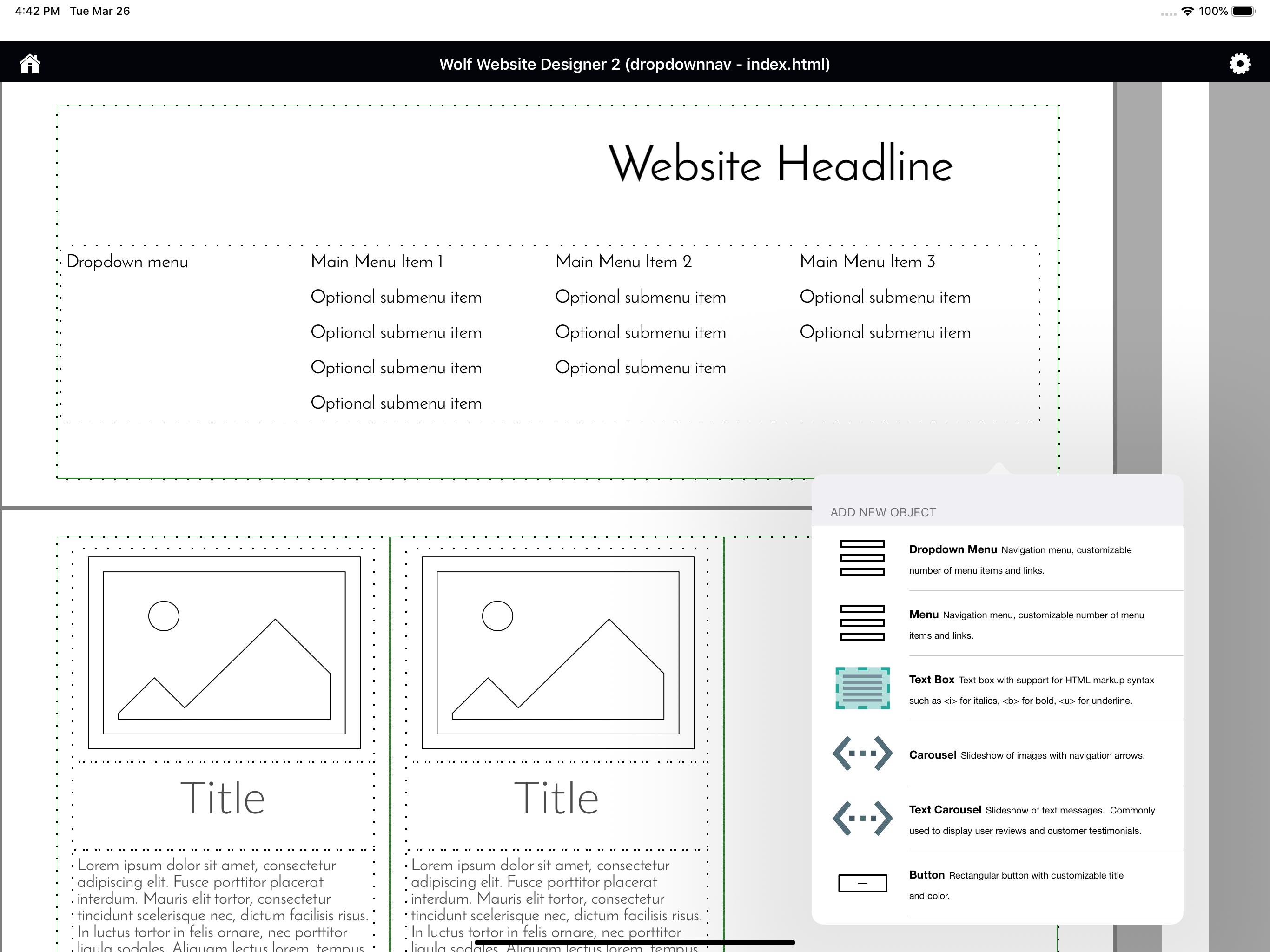 Wolf Website Designer Mac网页设计软件