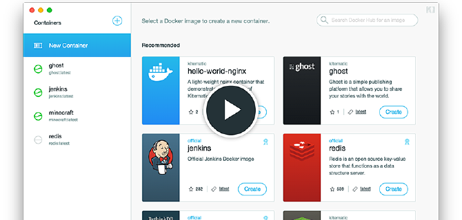 kitematic Docker图形化管理容器
