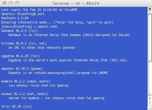 MacPorts  MacOS包管理和软件管理工具