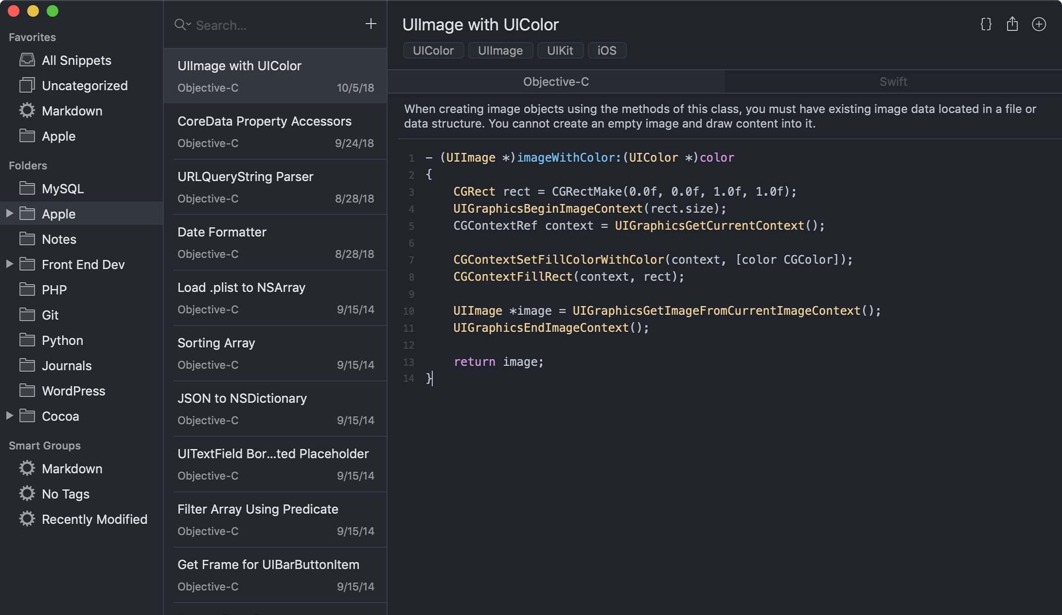 SnippetsLab专业代码片段管理器