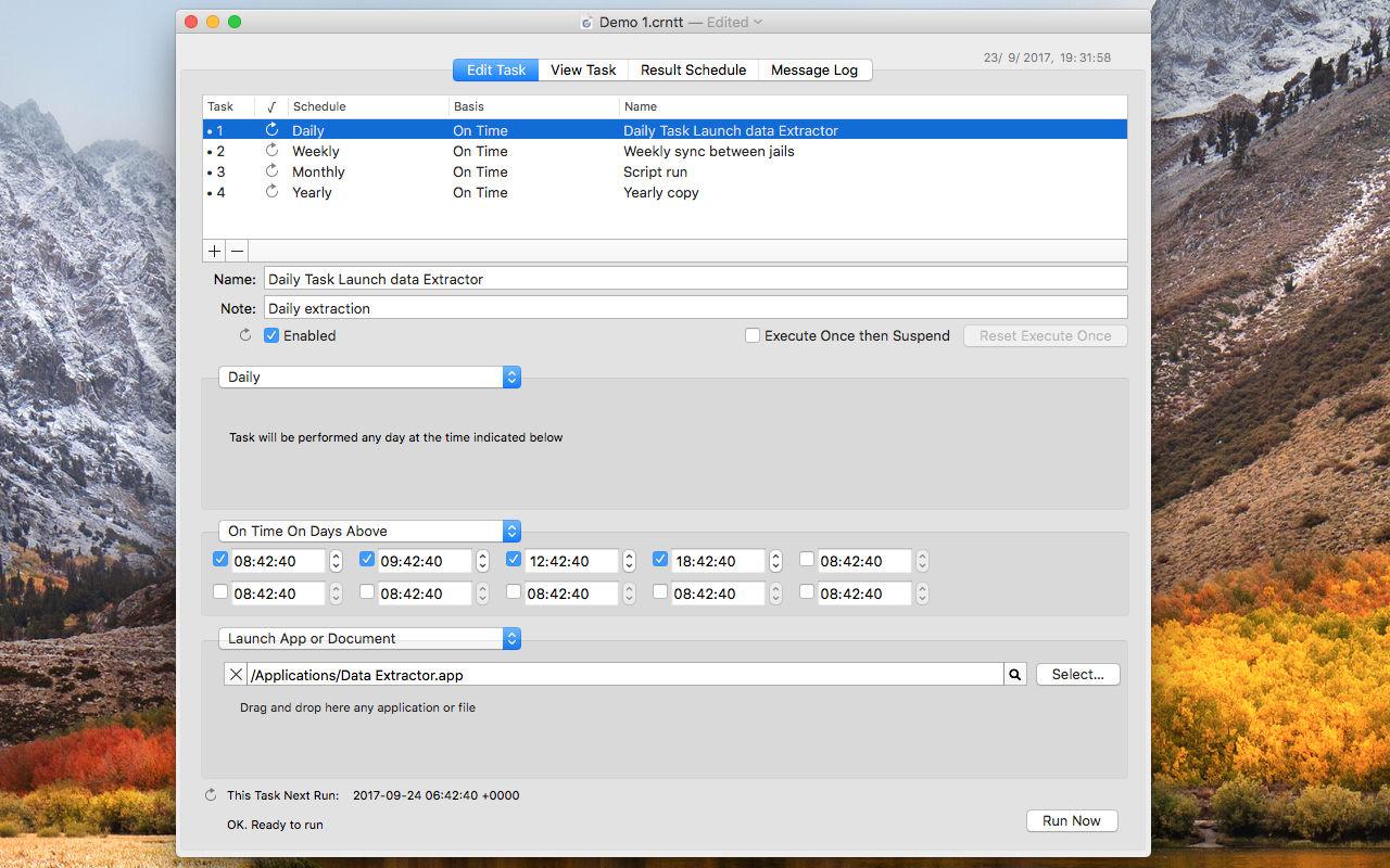 Cronette 1.9Mac自动启动指定任务的工具
